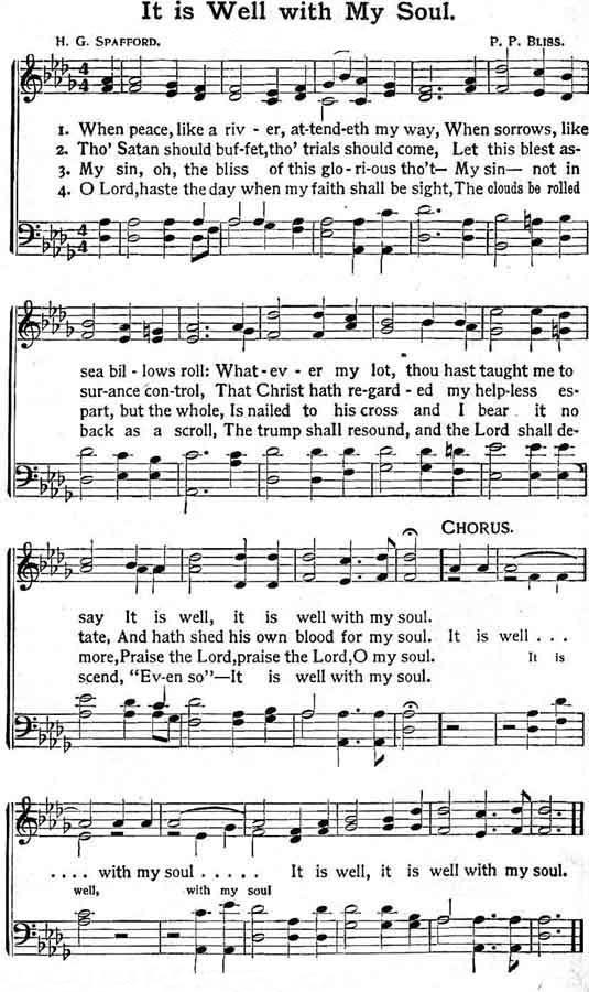 picture regarding It is Well With My Soul Printable referred to as The Previous Season Gospel Ministry: Printable Hymns