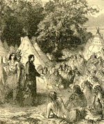 David Brainerd preaching to the Indians